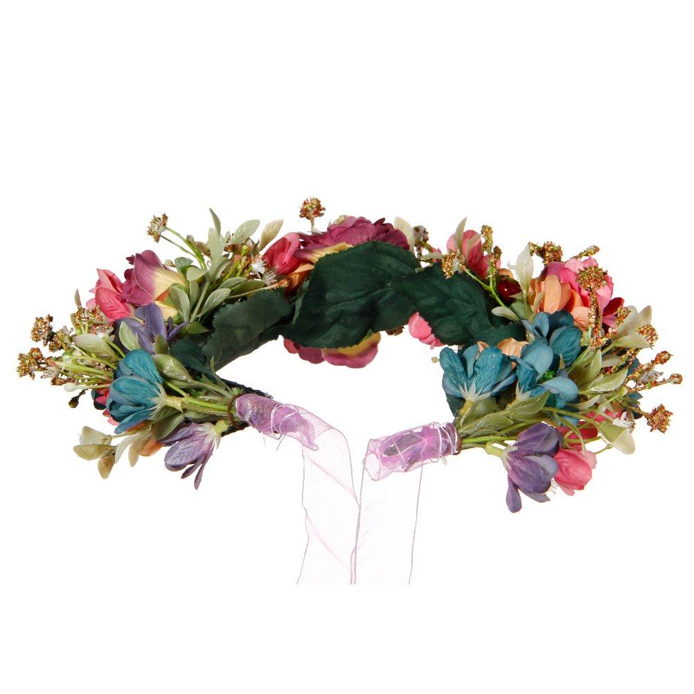 Valdler Vintage Nature Berries Flower Crown With Adjustable Ribbon