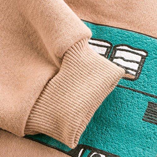 Omiky® Infant Kid Baby Jungen Mädchen Streifen Langarm Warme Tops T-Shirt Blusen Khaki