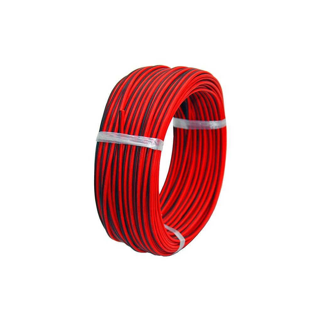 TUOFENG 20 awg Cavo elettrico in silicone 10 metri Nero 5 m Rosso 5 m 2 Conduttori Linea parallela flessibile 20 Gauge Fino fili senza ossigeno Filo di rame stagnato
