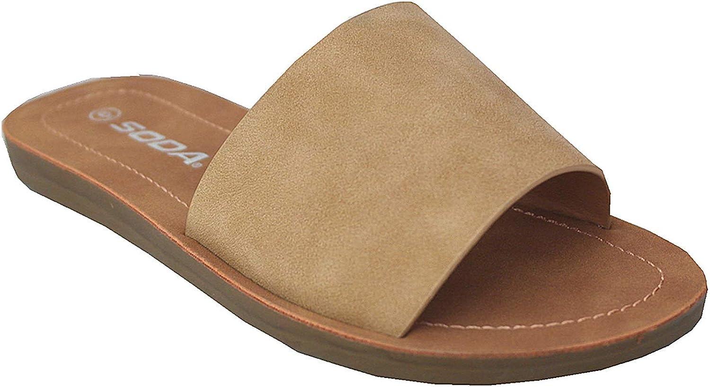 Soda Women's Casual Slip On Sandals