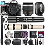 Holiday Saving Bundle for D3300 DSLR Camera + AF-S 35mm f/1.8G DX Lens + 650-1300mm Telephoto Lens + AF-P 18-55mm + 500mm Telephoto Lens + 2yr Extended Warranty + 32GB - International Version