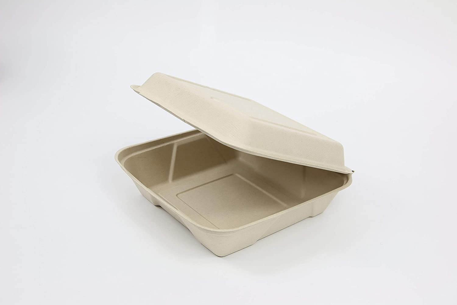 9x 6 Clam Shell Container Total Papers 200 per case NO Bagasse, NO Bleach Compostable Wheat Straw Fiber Tree Free Environmentally Responsible 100/% Biodegradable