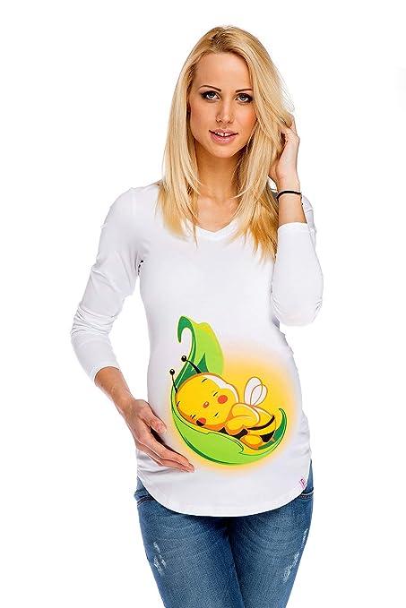 785df230cd5a My Tummy Maglietta premaman Ape bianca XXL (XX-large) Abbigliamento  Premaman Maglie di Maternità T shirt Gravidanza  Amazon.it  Prima infanzia