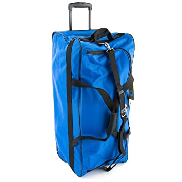68b0287c43a Jeep Xxl Extra Large Wheeled Holdall - 1 Year - Royal Blue 31 Inch:  Amazon.in: Bags, Wallets & Luggage