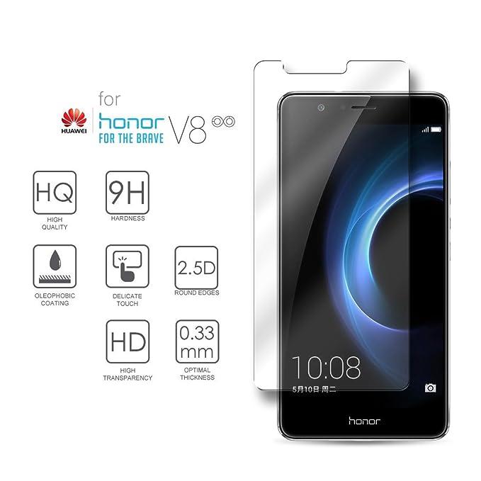 Hartglas Schutzfolie Huawei Honor V8, eProte® ultraslanke Gehärtetem Glass Folie für Huawei Honor V8, 5,7 Zoll - 9H Glashärte