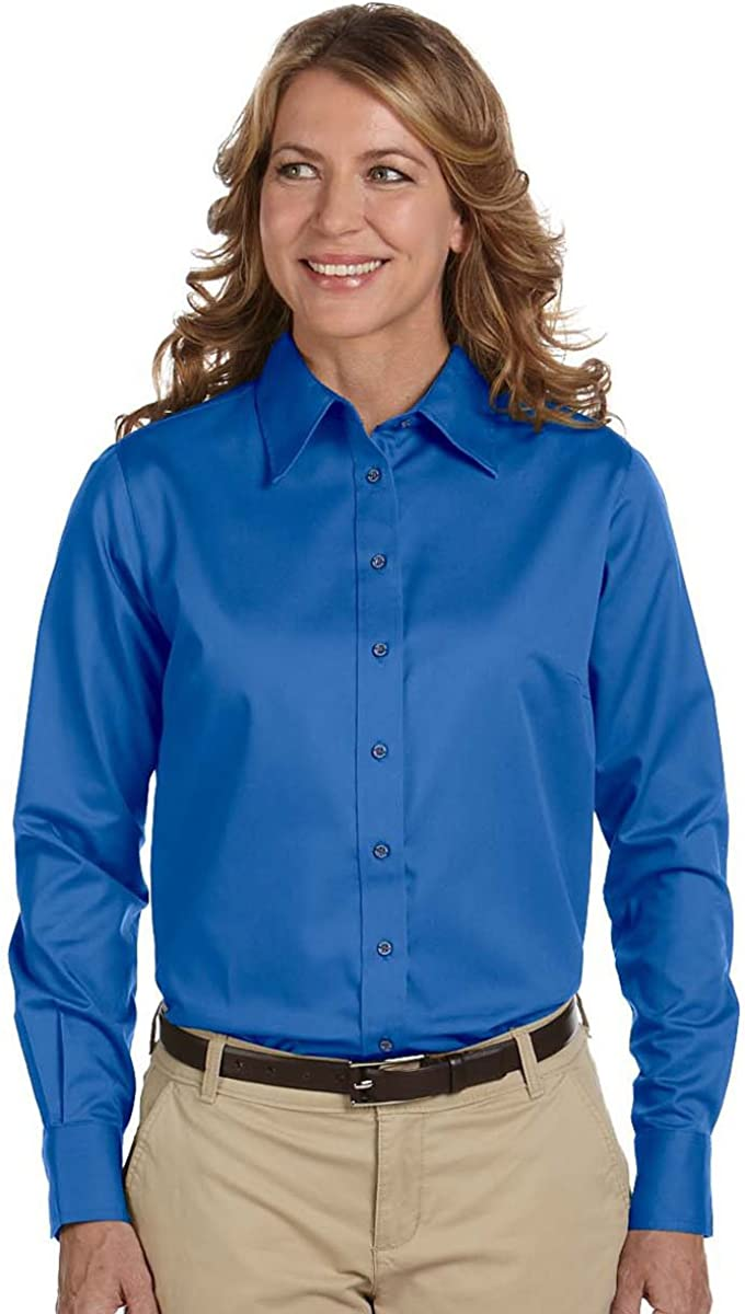 Harritton Mens Long Sleeve Twill Stain-Release Shirt