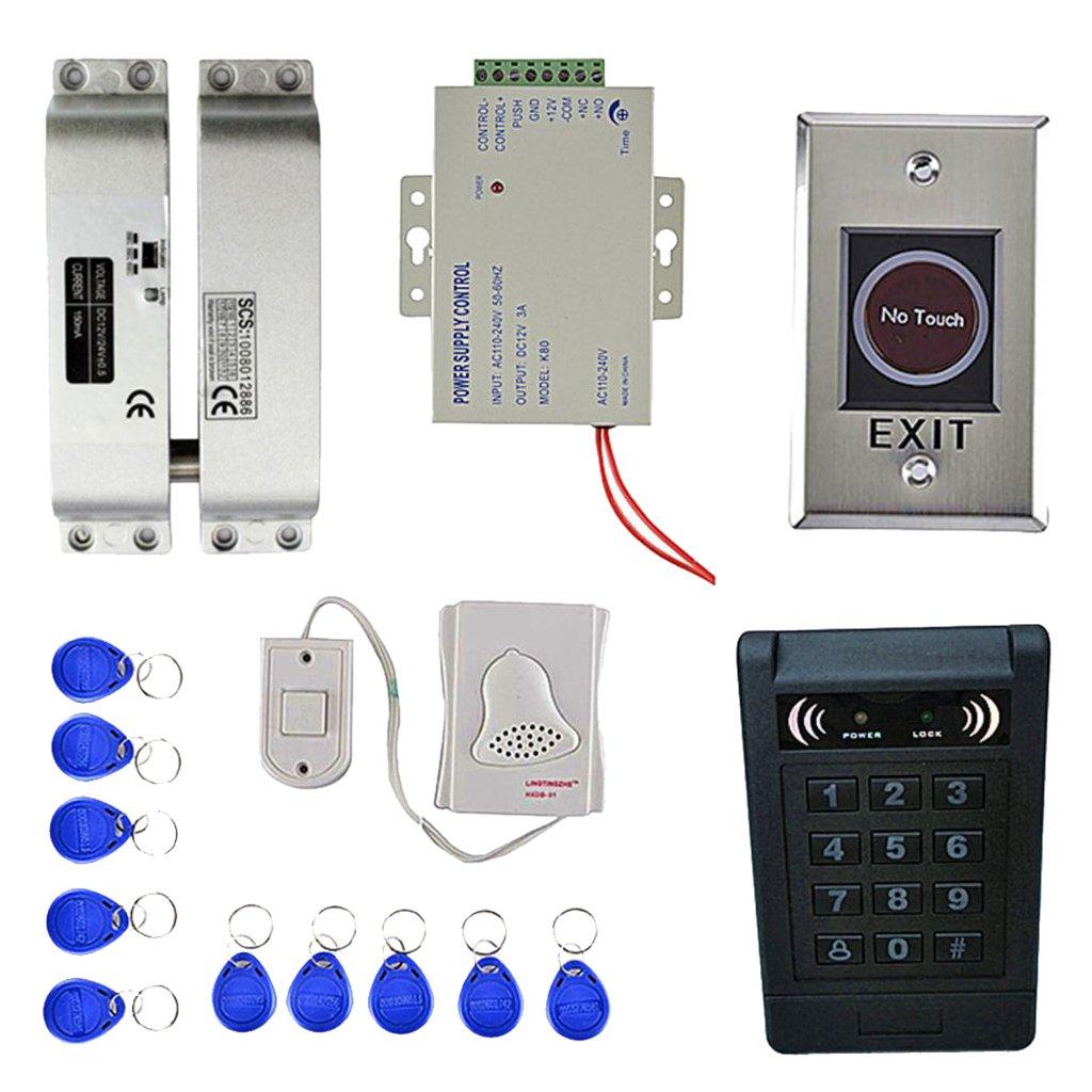IPOTCH 1 pieza de 10 Cerradura de Puerta de 10 de Teclas RFID de 1000 usuarios huella Digital Tarjeta EM RFID Vigilancia 131897