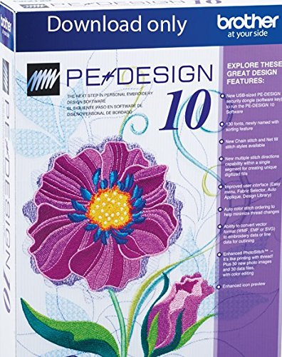 Brother PE-Design 10 Upgrade (Software Embroidery Designs)