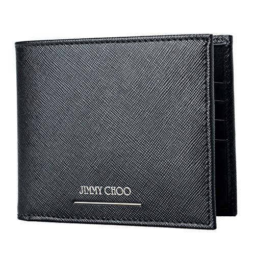 Jimmy Black Choo Bifold Wallet Men's 100 Choo Jimmy Leather dfFW6qdXc