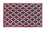 """A1 Home Collections First Impression Eye Heavy Duty, 100% Rubber Mat with High Dirt Trapping and Anti-Slip Features, 22"""" W x 33"""" L, Red"""
