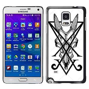 iKiki Tech / Estuche rígido - Letters Initial V Pen Art Tile Monster - Samsung Galaxy Note 4 SM-N910F SM-N910K SM-N910C SM-N910W8 SM-N910U SM-N910