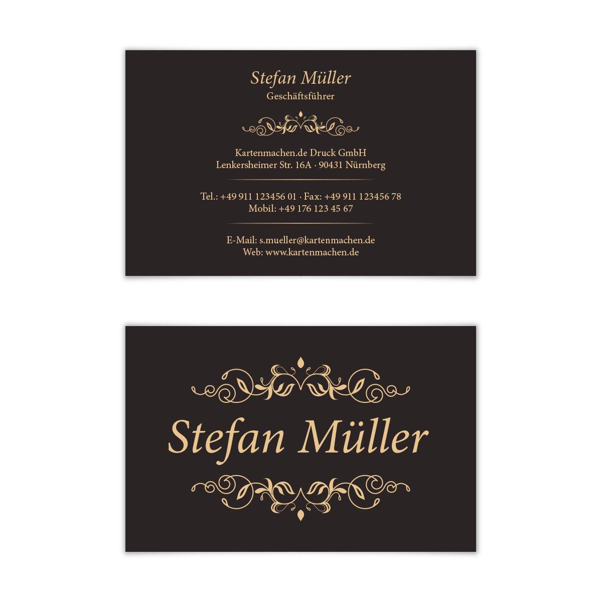 300 X Visitenkarten Individuell Business Karten 300g Qm 85