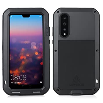 competitive price 989c5 b3a14 LOVE MEI Compatible for Huawei P20 Pro Case, Outdoor Sports Armor  Waterproof Shockproof Dustproof Aluminum Metal Heavy Duty Protective Cover  with ...