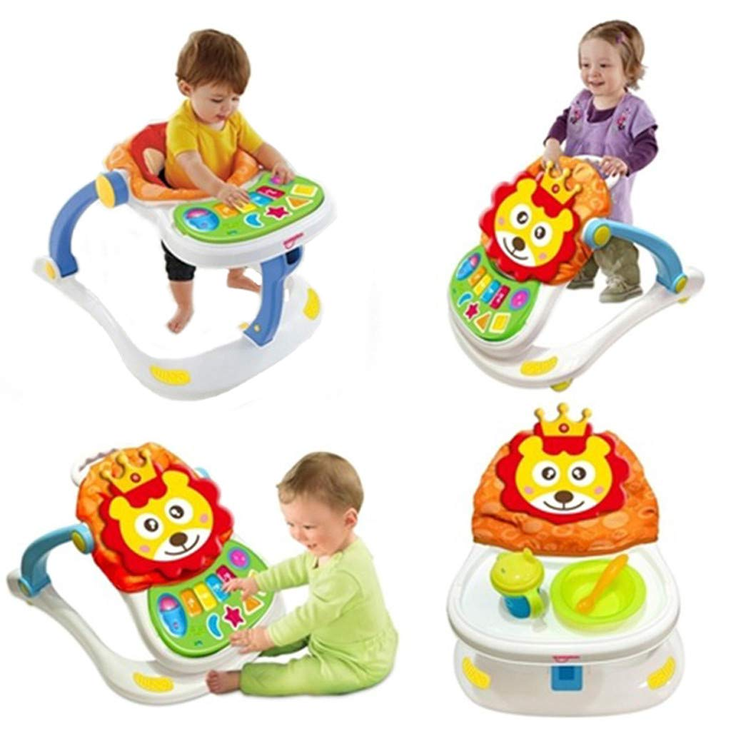 Yikey Baby Walker, Stroller Sitting Posture Multi-Function Baby Stroller Game Car, Toy Car