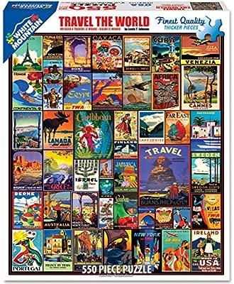 White Mountain Puzzles Travel The World Jigsaw Puzzle (550 Piece) from White Mountain Puzzles, Inc.