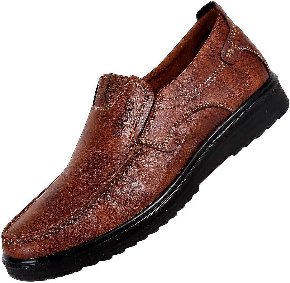 OSYARD Mocassins Homme Habill/é en Cuir sans Lacets Semelle Souple Respirant Chaussures daffaires