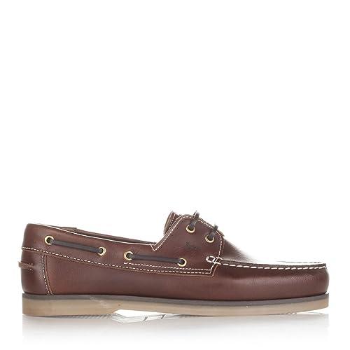 Castellanísimos C01103 Mocasines Náuticos Hombre Piel con Cordones Color Burdeos - Color - Burdeos, Tallas - 45: Amazon.es: Zapatos y complementos