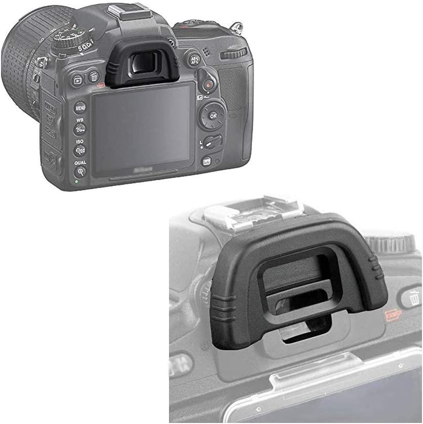 Runshuangyu 2 Pieces DK-21 Eyecup for Nikon DSLR Camera Eyepiece Replacement Viewfinder Protector for Nikon DSLR D750 D610 D600 D7000 D90 D80 D40 D50 D70S D200 D300