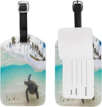 2 Pack Luggage Tags Sea Turtles Cruise Luggage Tag For Travel Tags Accessories