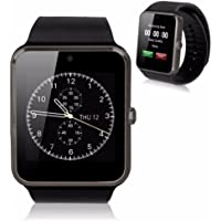 KOSCHEAL GT08 Smart Watch Pantalla táctil Bluetooth gsm Inteligente Reloj teléfono para Android iOS (Negro)