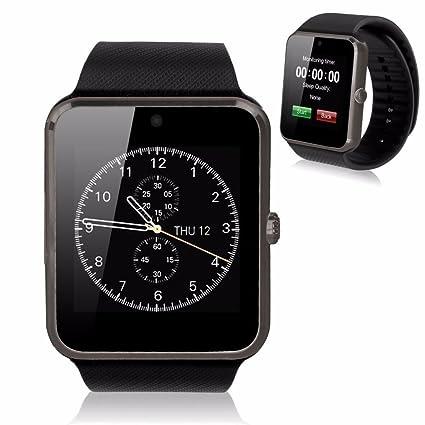 805d7db6b6b5 KOSCHEAL GT08 Smart Watch Pantalla táctil Bluetooth gsm Inteligente Reloj  teléfono para Android iOS (Negro