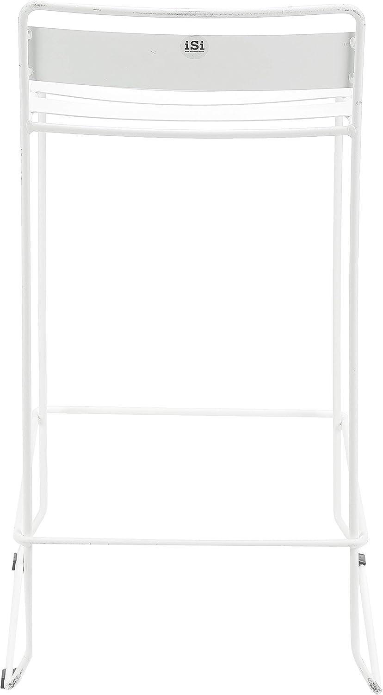 iSi mar Portofino Taburete bajo Blanco Ibiza 40x40x81 cm