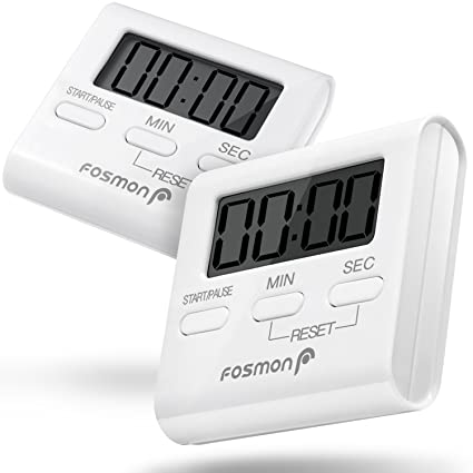 Bon Digital Kitchen Timer (2 Pack), Fosmon Digital Display Kitchen Timer Cooking  Baking Count