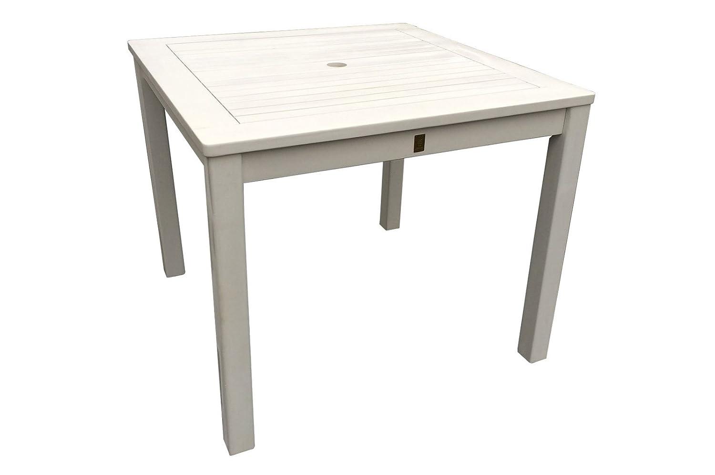 Gartentisch 90x90cm Weiss Holztisch Tisch