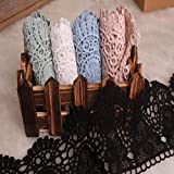 9CM Width Europe Crown Pattern Inelastic Embroidery Lace Trim,Curtain Tablecloth Slipcover Bridal DIY
