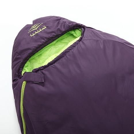 DHWJ Saco Dormir,Al Aire Libre Saco Cálido Ultralight Bolsa de Dormir Adulto-B