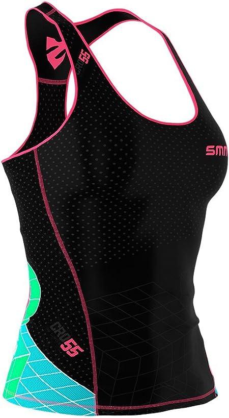 SMMASH Goddess Sport Debardeur Femme Shirt sans Manches Mat/ériau Antibact/érien Tank Top Parfait pour la Gym Le Fitness Fit Cut Produit dans lUnion Europ/éenney Le Yoga