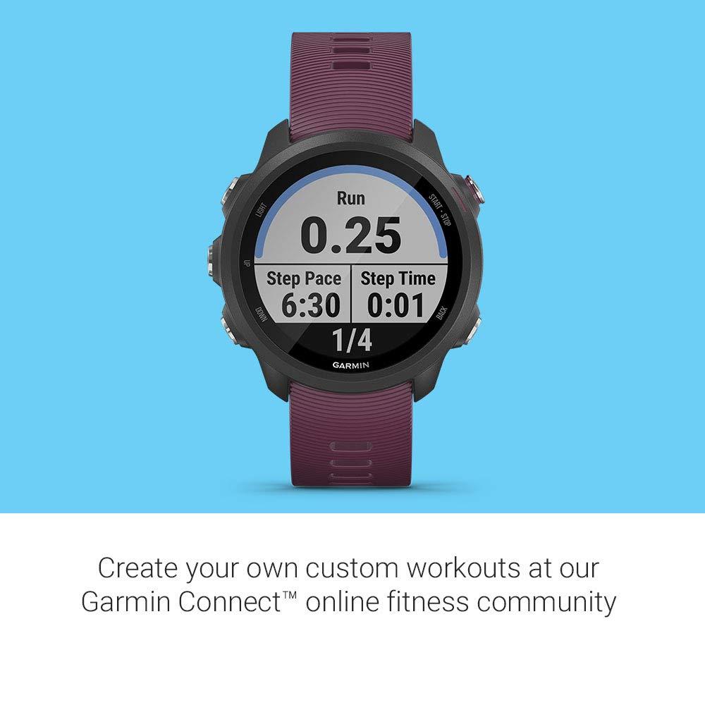 Black Bundle with Garmin 010-12520-00 Running Dynamics Pod GPS Running Smartwatch with Music and Advanced Dynamics Garmin Forerunner 245 Music