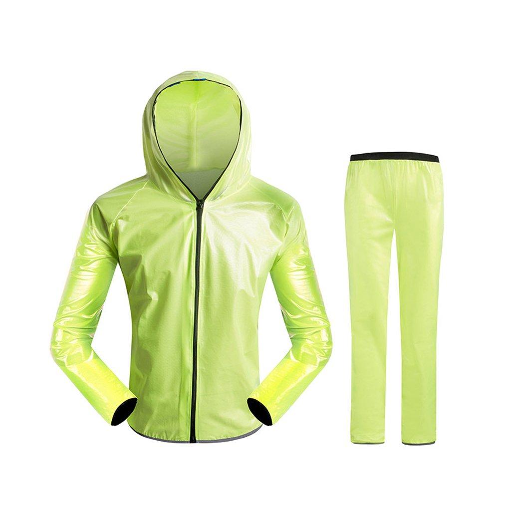 Radfahren Regenmantel Split Regenmantel Regen Hosenanzug für Männer und Frauen Erwachsene im Freien Wiederverwendbare Multi-Farbe optional (Farbe   Grün, größe   XXL)