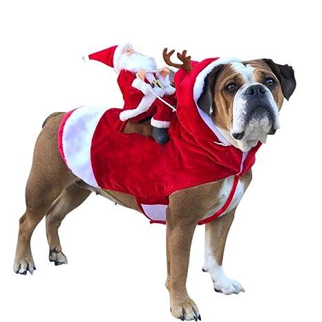 DOGCATMM Ropa para Perros navideños Disfraces para Perros ...