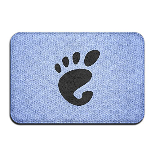 Qbeir Black Footprint Bedroom Door Mat Doormat Door Mats Rug Entrance Mat Entry Rugs