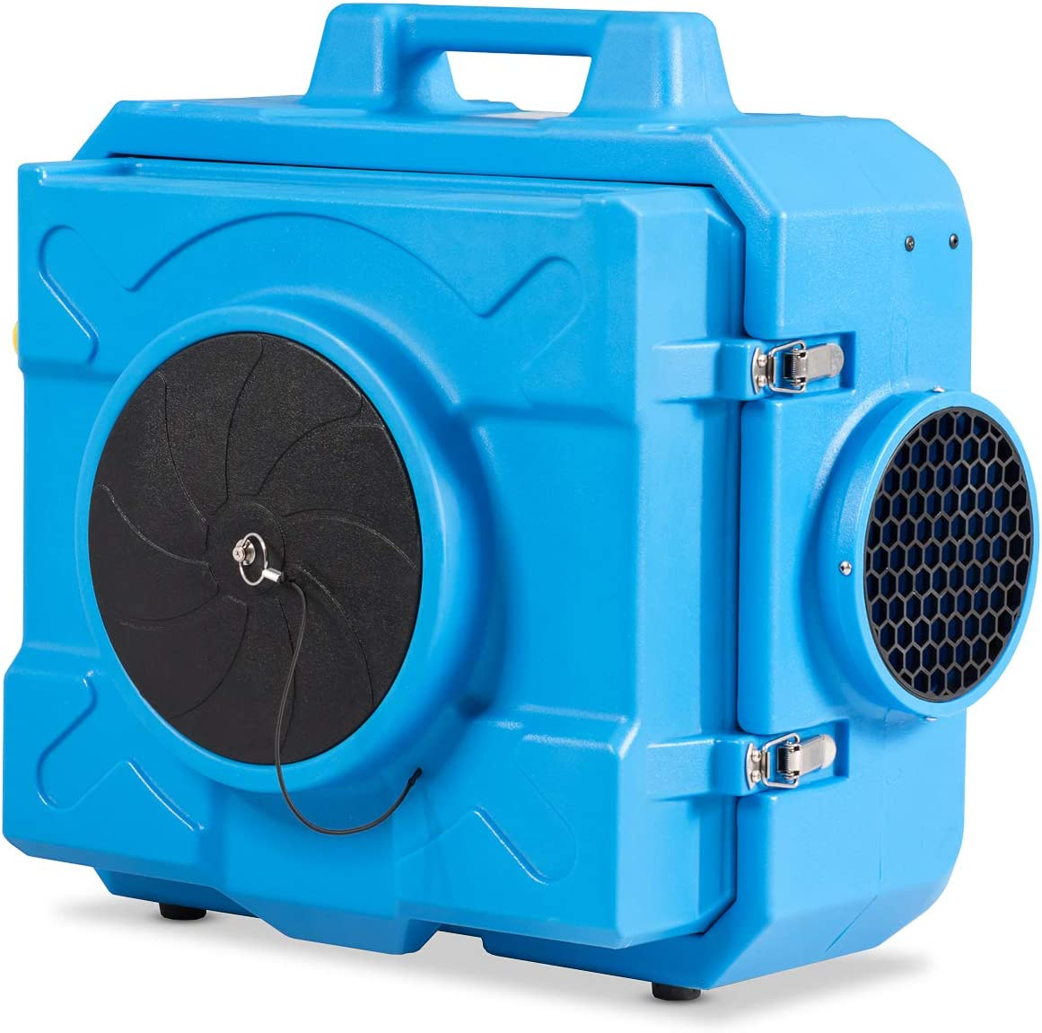 COSTWAY Industrial Commercial Air Scrubber, Heavy Duty Air Purifier, Air Machine for Water Damage Restoration Fire Disaster Interior Decoration, Air Filtration System Air Cleaner Blue
