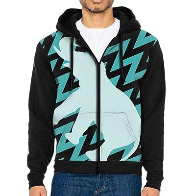 Men's Cutr Elephant Athletic Pocket Hoodie Jackets Full Zip Long Sleeve Cozy Sweatshirt Midweight Sports