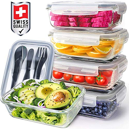 Pohl+Schmitt Glass Meal Prep Containers