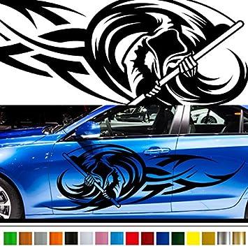 Amazoncom Grim Reaper Tribal Car Sticker Car Vinyl Side Graphics - Graphic design stickers for cars