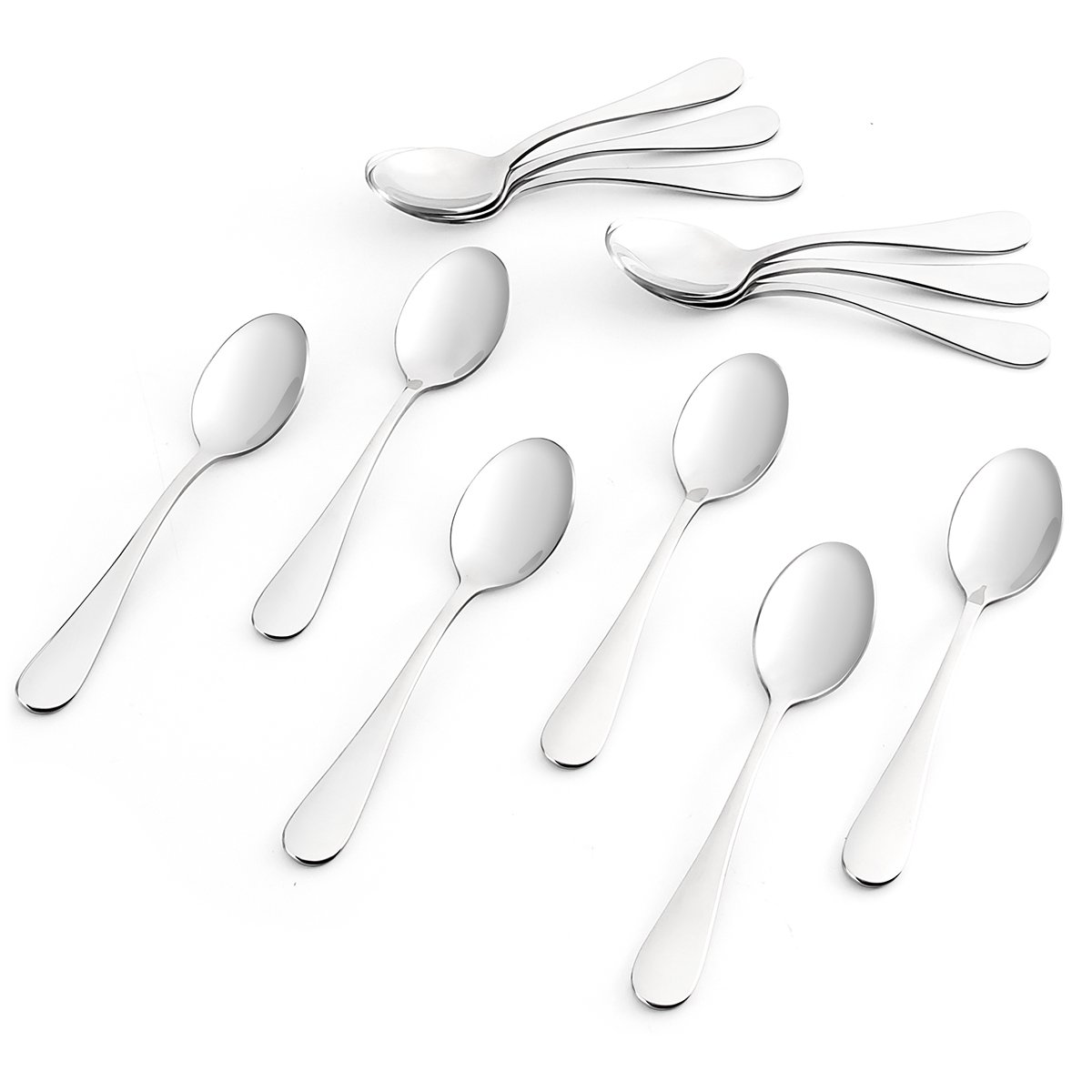 Sweese 3703 Teaspoons, Espresso Spoons, Set of 12 - Heavy-duty Stainless Steel, Restaurant & Hotel Quality, 5.5 inches