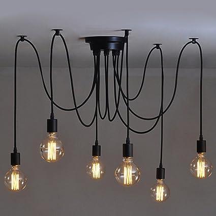 Yyf 6 Heads Vintage Industrial Edison Ceiling Lamp Chandelier