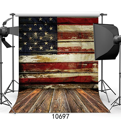 SJOLOON 5X7ft Vinyl Fabric Photography Backdrops American for sale  Delivered anywhere in USA