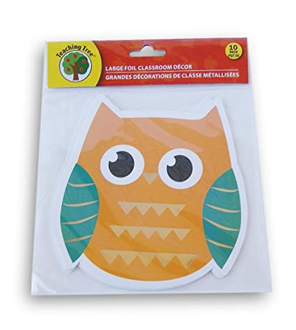 Amazon Com Owl Classroom Decor Foil Paper Cut Outs 10