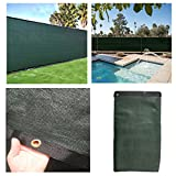 DREAMALL 5.6'x50' Dark Green Commercial Home Garden Privacy Fence Screen Windscreen Heavy Duty Cover Fabric Shade Mesh Tarp