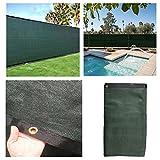DREAMALL 5.6'x50' Dark Green Commercial Home Garden Privacy Fence Screen Windscreen Heavy Duty Cover Fabric Shade Mesh Tarp