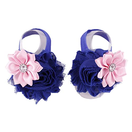 Voberry 1Pair Fashion Beautiful Baby Girls Pearl Barefoot Toddler Foot Flower Beach Sandals