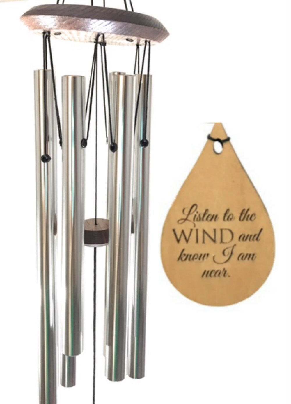 Comfort Memorial TOP Wind Chime Teardrop PRIME Rush Shipping for Funeral Loss in Memory of Loved One Silver Wind Chime for Memorial Garden Remembering a Child stillborn