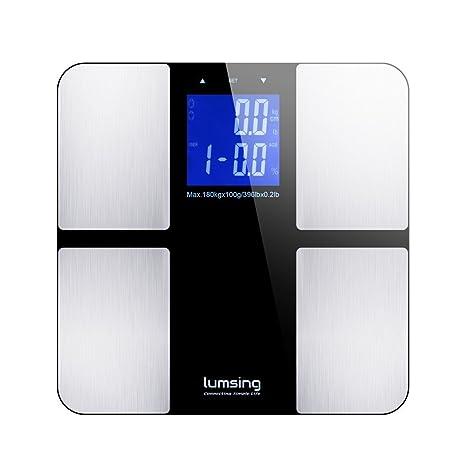 Amazon.com: Lumsing – Báscula de grasa corporal digital mide ...