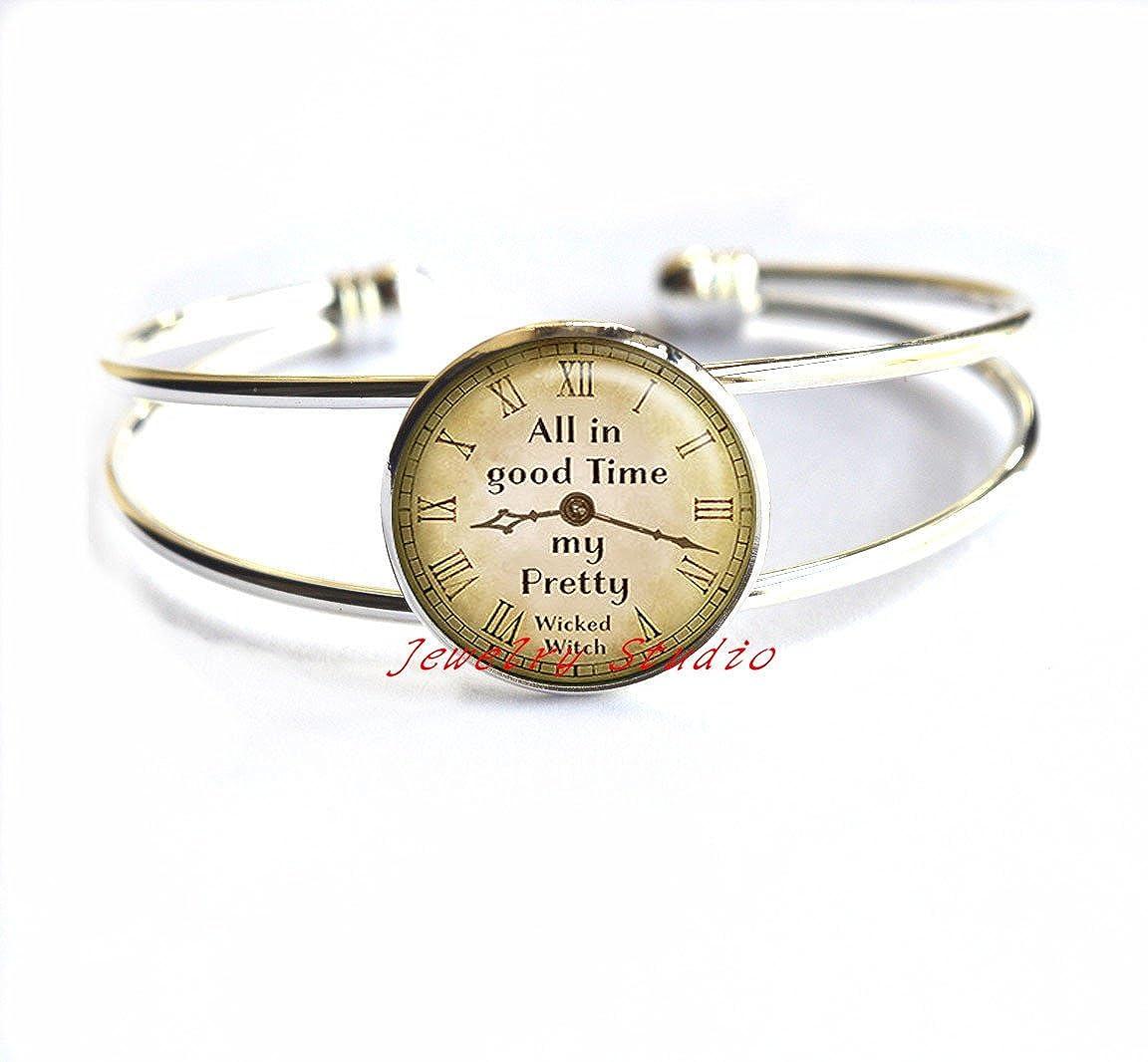 Encouragement Inspirational Bracelet,motivational Bracelet-HZ00373 All in Good Time My Pretty Bracelet