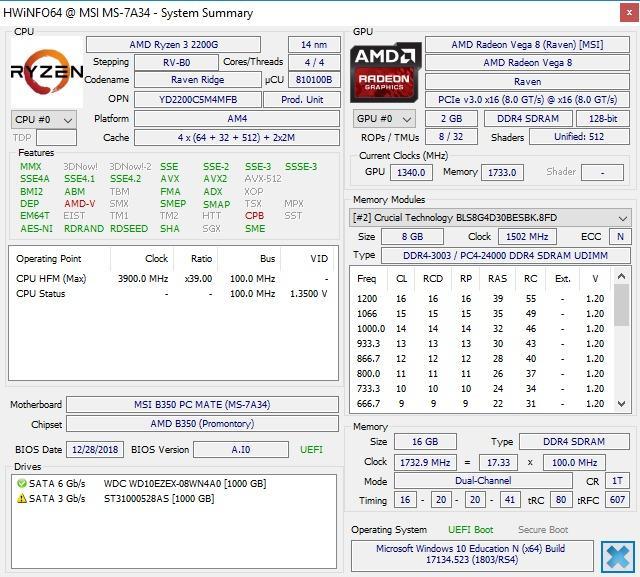 Ballistix Sport LT 8GB Single DDR4 3000 MT/s (PC4-24000) CL15 SR x8